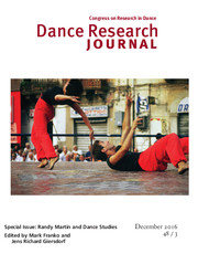 Dance Research Journal Volume 48 - Special Issue3 -  Randy Martin and Dance Studies