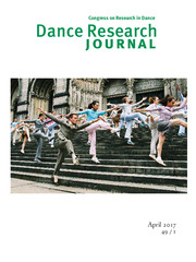 Dance Research Journal Volume 49 - Issue 1 -