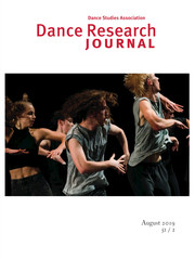 Dance Research Journal Volume 51 - Issue 2 -