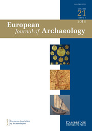 European Journal of Archaeology Volume 21 - Issue 3 -