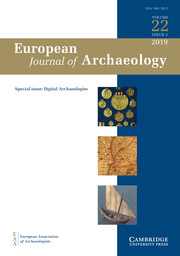European Journal of Archaeology Volume 22 - Special Issue3 -  Digital Archaeologies