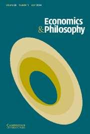 Economics & Philosophy Volume 20 - Issue 1 -
