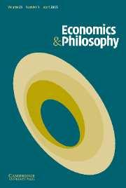 Economics & Philosophy Volume 21 - Issue 1 -