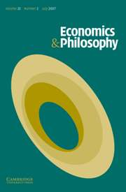 Economics & Philosophy Volume 23 - Issue 2 -