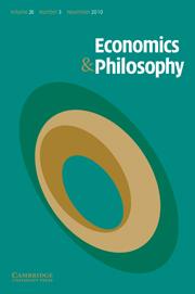 Economics & Philosophy Volume 26 - Issue 3 -