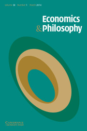 Economics & Philosophy Volume 30 - Issue 1 -  'Themes from the Work of Amartya Sen: Identity, Rationality, and Justice'