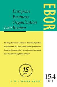 European Business Organization Law Review Ebor