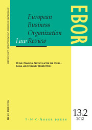 European Business Organization Law Review (EBOR) Volume 13 - Issue 2 -