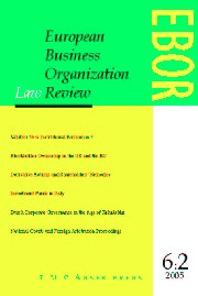 European Business Organization Law Review (EBOR) Volume 6 - Issue 2 -