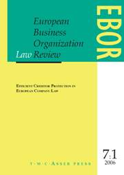 European Business Organization Law Review (EBOR) Volume 7 - Issue 1 -