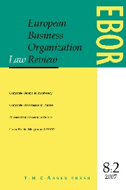 European Business Organization Law Review (EBOR) Volume 8 - Issue 2 -