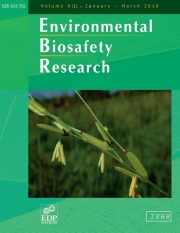 Environmental Biosafety Research Volume 9 - Issue 2 -