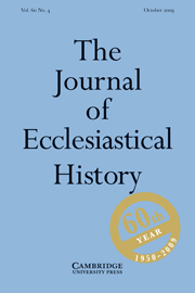 The Journal of Ecclesiastical History Volume 60 - Issue 4 -