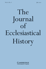 The Journal of Ecclesiastical History Volume 61 - Issue 3 -