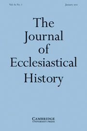 The Journal of Ecclesiastical History Volume 62 - Issue 1 -
