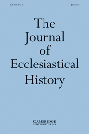 The Journal of Ecclesiastical History Volume 62 - Issue 3 -