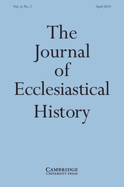 The Journal of Ecclesiastical History Volume 70 - Issue 2 -