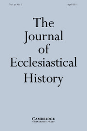 The Journal of Ecclesiastical History Volume 72 - Issue 2 -