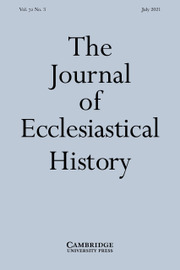 The Journal of Ecclesiastical History Volume 72 - Issue 3 -