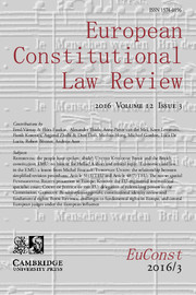 European Constitutional Law Review Volume 12 - Issue 3 -