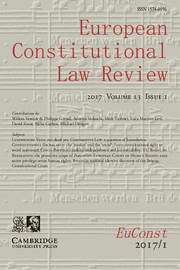 European Constitutional Law Review Volume 13 - Issue 1 -