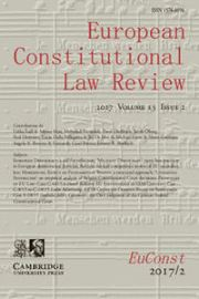 European Constitutional Law Review Volume 13 - Issue 2 -