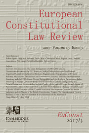 European Constitutional Law Review Volume 13 - Issue 3 -