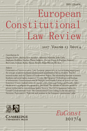 European Constitutional Law Review Volume 13 - Issue 4 -