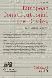 European Constitutional Law Review Volume 14 - Issue 1 -