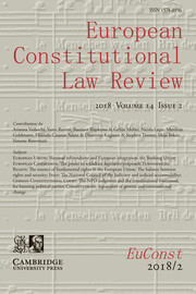 European Constitutional Law Review Volume 14 - Issue 2 -