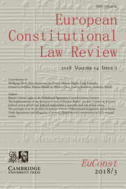 European Constitutional Law Review Volume 14 - Issue 3 -