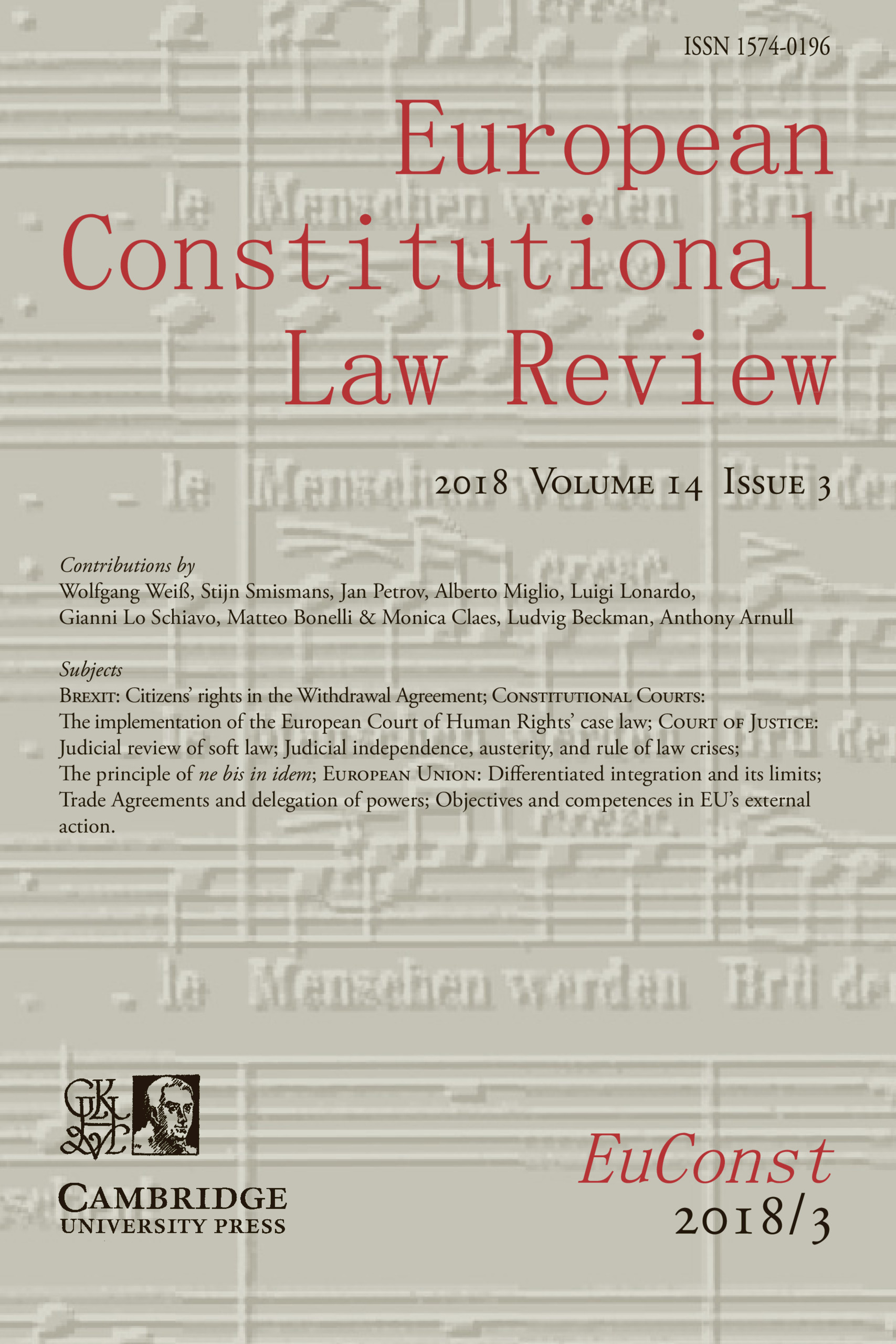 European Constitutional Law Review | Latest issue | Cambridge Core