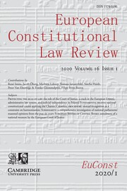 European Constitutional Law Review Volume 16 - Issue 1 -