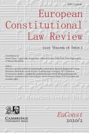 European Constitutional Law Review Volume 16 - Issue 2 -