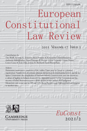 European Constitutional Law Review Volume 17 - Issue 2 -