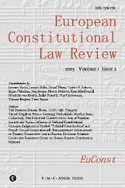 European Constitutional Law Review Volume 1 - Issue 2 -
