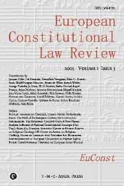 European Constitutional Law Review Volume 1 - Issue 3 -