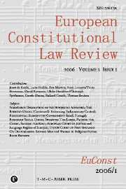 European Constitutional Law Review Volume 2 - Issue 1 -