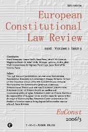 European Constitutional Law Review Volume 2 - Issue 3 -