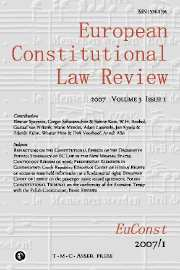 European Constitutional Law Review Volume 3 - Issue 1 -