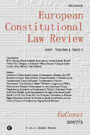 European Constitutional Law Review Volume 3 - Issue 2 -