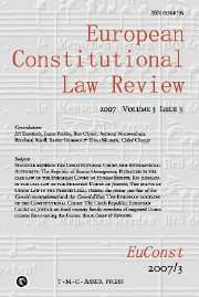 European Constitutional Law Review Volume 3 - Issue 3 -