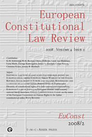 European Constitutional Law Review Volume 4 - Issue 2 -