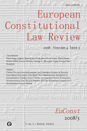 European Constitutional Law Review Volume 4 - Issue 3 -