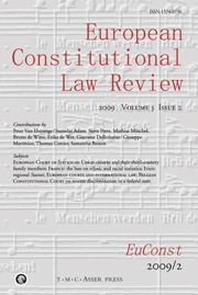 European Constitutional Law Review Volume 5 - Issue 2 -