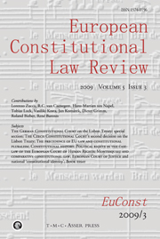 European Constitutional Law Review Volume 5 - Issue 3 -