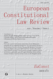 European Constitutional Law Review Volume 7 - Issue 1 -