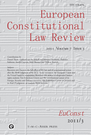 European Constitutional Law Review Volume 7 - Issue 3 -