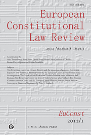 European Constitutional Law Review Volume 8 - Issue 1 -