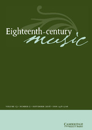 Eighteenth-Century Music Volume 13 - Issue 2 -